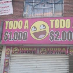 Todo A $ 1000 Todo A $ 2000 en Bogotá
