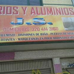 Vidrios y aluminos j.s. en Bogotá