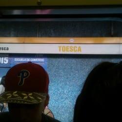 Estación Metro Toesca en Santiago