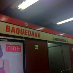 Estación Metro Baquedano en Santiago