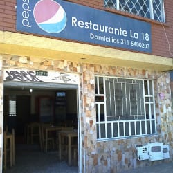 Restaurante La 18 en Bogotá