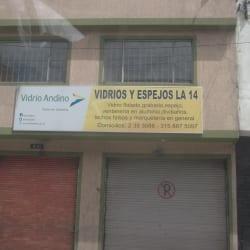 Vidrios y Espejos La 14 en Bogotá
