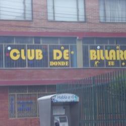 Club de Billares Donde EU  en Bogotá