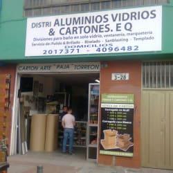 Distri Aluminios Vidrios & Cartones E.Q en Bogotá