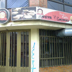 Arepa y Chorizo Donde Gaby en Bogotá