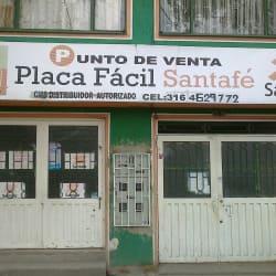 Punto De Venta Placa Fácil Santafe en Bogotá