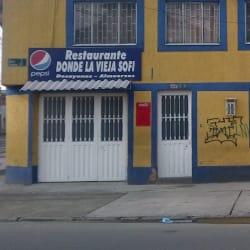 Restaurante donde la vieja Sofi en Bogotá