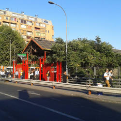 Estación Metro Santa Ana en Santiago
