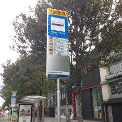 Paradero SITP Parque el Virrey 306B00 en Bogotá