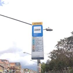 Paradero SITP Barrio San Antonio Urbano - 207A05 en Bogotá