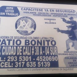 Academia de seguridad Colombolatina Patio Bonito en Bogotá