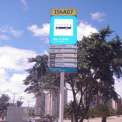 Paradero SITP Biblioteca el Tintal - 154A07 en Bogotá