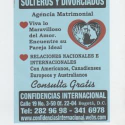 Agencia Matrimonial Confidencias Internacional en Bogotá