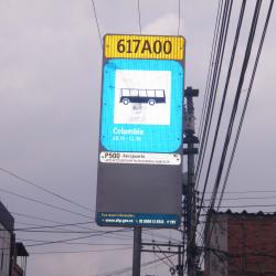 Paradero SITP Barrio Colombia - 617A00 en Bogotá