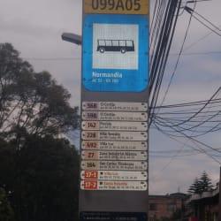 Paradero SITP Barrio Normandía - 099A05 en Bogotá
