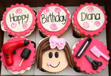 Seis ricos cupcakes personalizados por $36.000