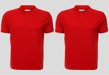 Doce Camisetas tipo polo con estampado $240.000