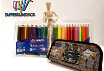 Colores Artesco x 48 y cartuchera por $44.000