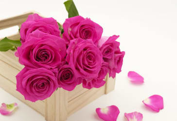 Caja bouquet de rosas por $60.000 a domicilio