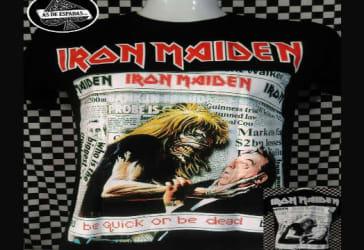 Dos camisetas de Iron Maiden por $50.000