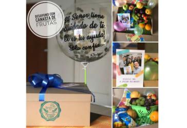 Canasta de frutas para regalar a mamá por $65.000