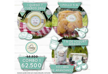 Combo de queso, pollo y yogurt griego por $62.500
