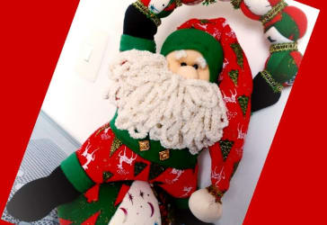 Papá Noel decorativo sin luces por solo $55.000