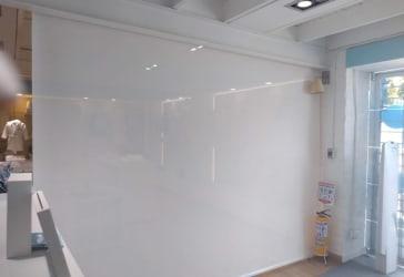 Cortina enrollable screen white de 1.53x2.30 por $143.200