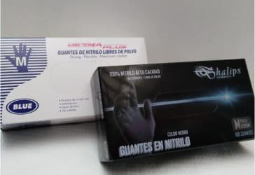 Gorro tipo oruga + guantes de Nitrilo por $30.000