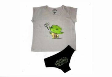 Camiseta + panty Master Selfie Yoda por $27.900 pagando con Mastercard