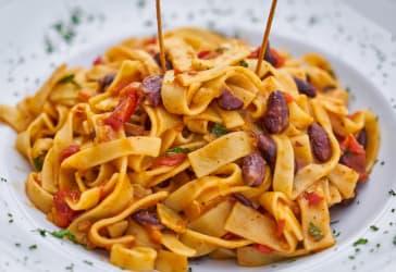 Spaguetti de la casa por solo $15.000