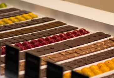 5 bombones de chocolate rellenos por $12.500