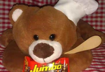 Mini chocolatina Jumbo Maní por $9.00