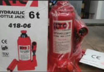 Gato hidráulico 6 toneladas tipo botella por $50.000