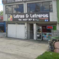 Letras & Letreros Publicidad en Bogotá