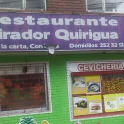 Restaurante Mirador Quirigua en Bogotá