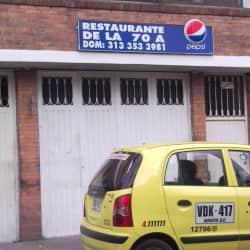 Restaurante de la 70A en Bogotá