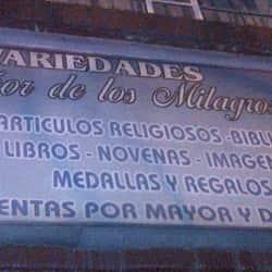Variedades Señor de los Milagros en Bogotá