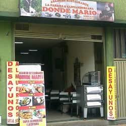 La Parrilla Santandereana Donde Mario en Bogotá