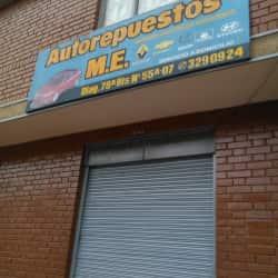 Autorepuestos M.E en Bogotá