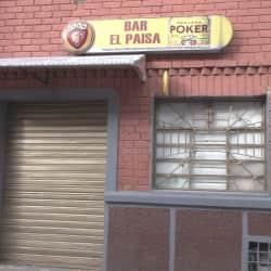 Bar el Paísa en Bogotá