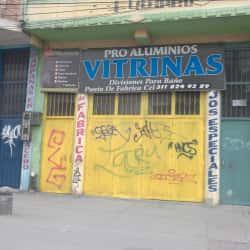 Pro Aluminios Vitrinas en Bogotá