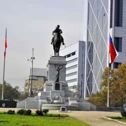 Plaza Baquedano (Plaza Italia) en Santiago