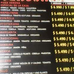 Pizzería Verona en Santiago