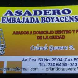 Asadero La Embajada Boyacense en Bogotá