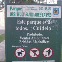 Parque Urbanización Multifamiliares La Paz en Bogotá