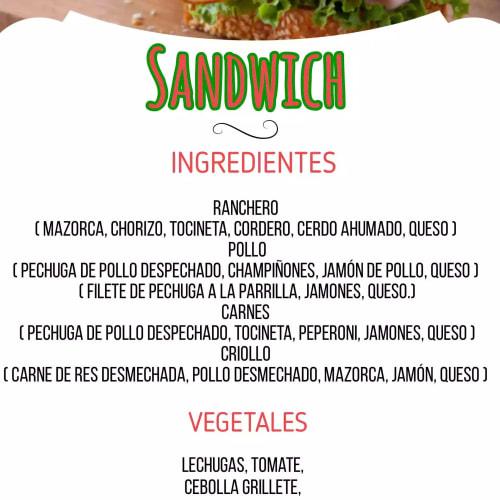 Ofertas de Sánduches / ensaladas 2
