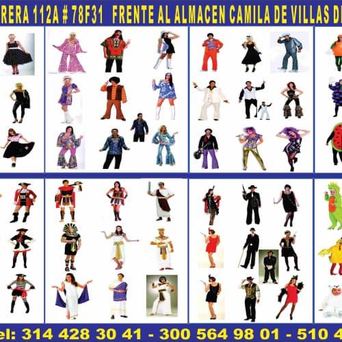 Alquiler de Disfraces Villas de Granada en Bogotá 1