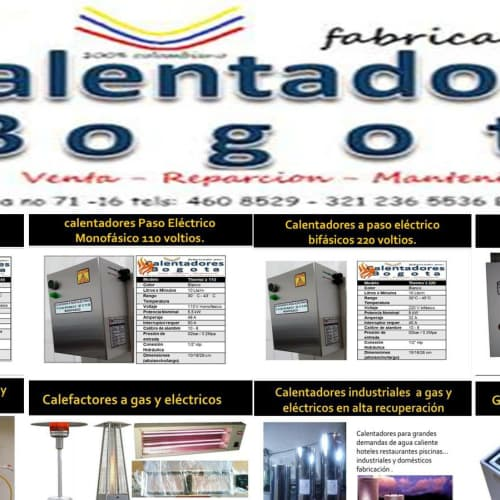 Calentadores Calderas y Calefactores en Bogotá 1