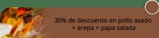 El Gran Chopsuey - 30% de descuento en pollo asado + arepa + papa salada